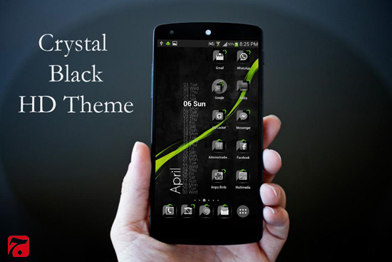 Theme Crystal Black Flat HD