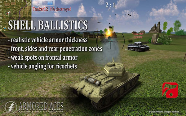 Armored Aces 3D Tanks Online1 جنگ تانک ها Armored Aces   3D Tanks Online v2.31 اندروید