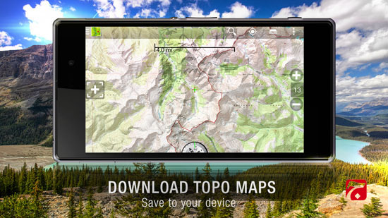نقشه یابی اندروید BackCountry Navigator TOPO GPS v5.4.4