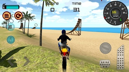 Motocross Beach Jumping 3D3