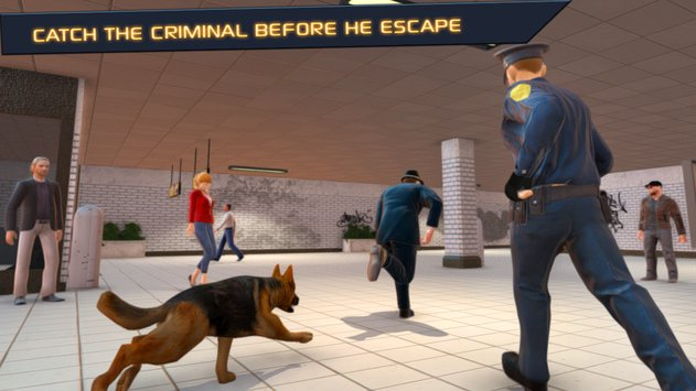 Police Dog  City Subway Crime2
