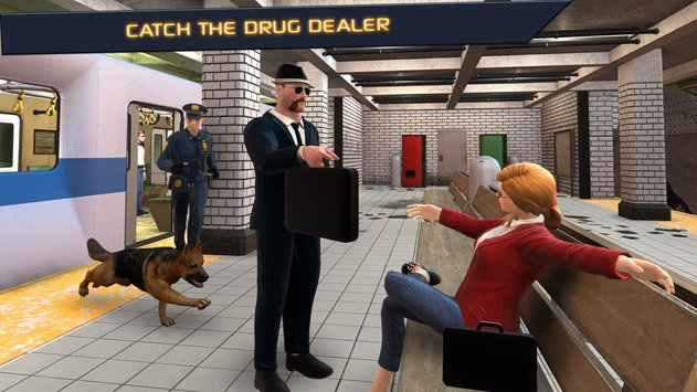 Police Dog  City Subway Crime3