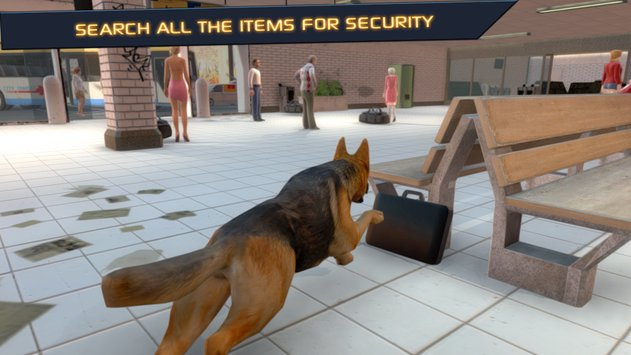 Police Dog  City Subway Crime4