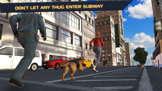 Police Dog  City Subway Crime6