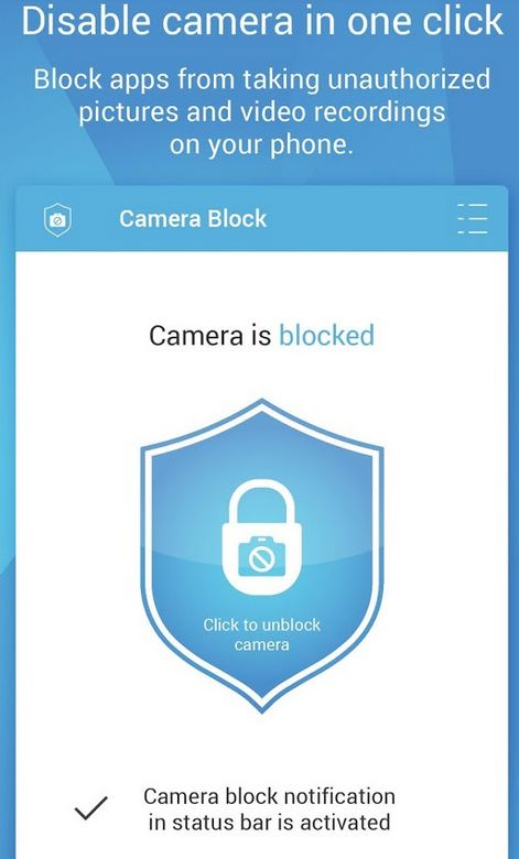 Camera Block - Spyware protect 2