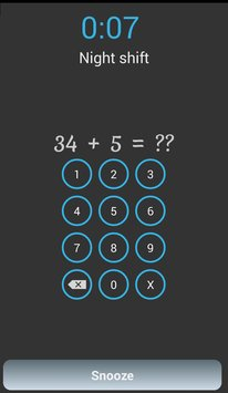 Alarm with math problems8