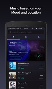 Pindrop Music smart playlists2