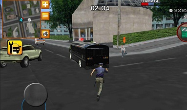 Police bus prison transport 3D 1