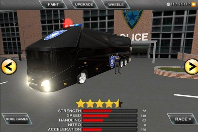 Police bus prison transport 3D 2