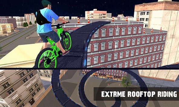 Rooftop BMX Bicycle Stunts 1