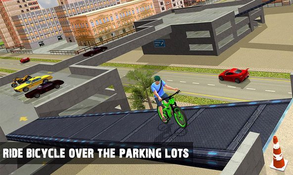 Rooftop BMX Bicycle Stunts 3