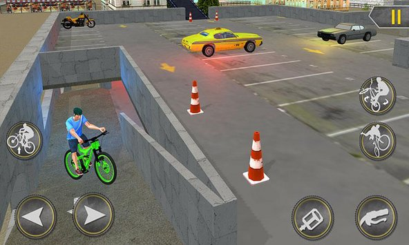 Rooftop BMX Bicycle Stunts 5