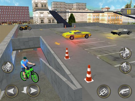 Rooftop BMX Bicycle Stunts 8