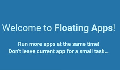 Floating Apps multitasking
