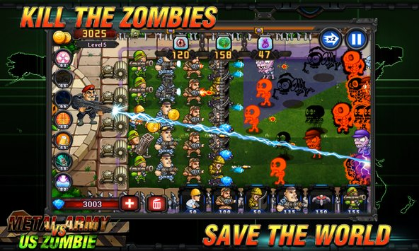 Metal Army vs US Zombie 2
