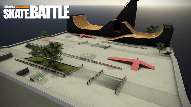 Stickman Skate Battle 2