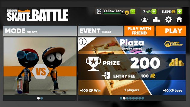 Stickman Skate Battle 4