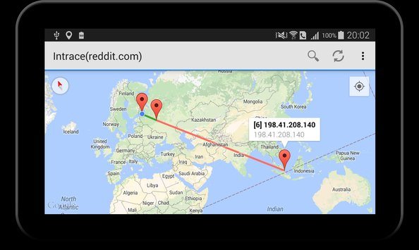 Intrace Visual Traceroute4