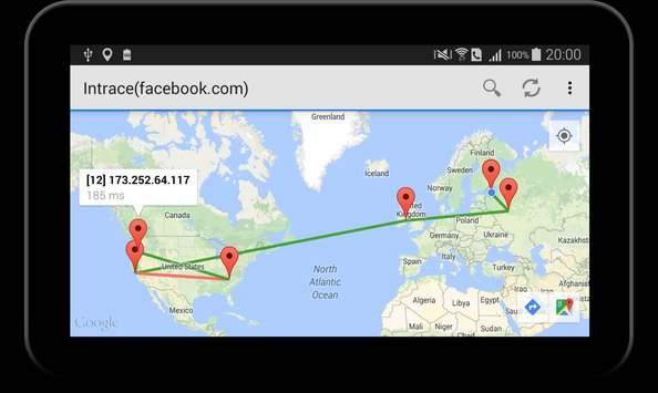 Intrace Visual Traceroute5