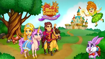 Magic Country fairy city farm logo