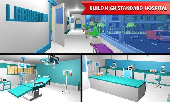 Hospital Craft Building Doctor Simulator Games 3D3