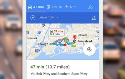 Google Maps Go Directions Traffic Transit