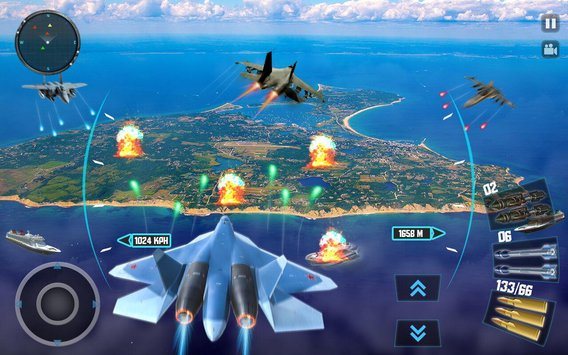 Sky Fighter Plane Flight Pilot Battle Simulator4