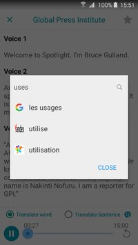 Translate All Languages by Google Yandex Glosbe8