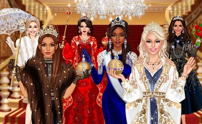 Royal Dress Up Queen Fashion Salon