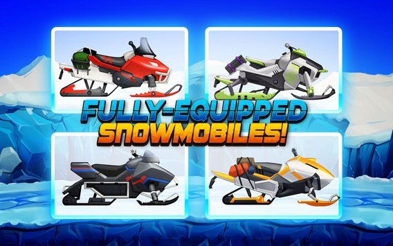 Winter Sports Game Risky Road Snowmobile Race1