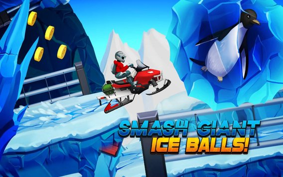 Winter Sports Game Risky Road Snowmobile Race2