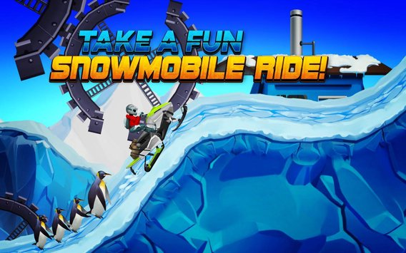 Winter Sports Game Risky Road Snowmobile Race3
