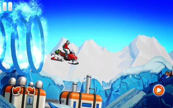 Winter Sports Game Risky Road Snowmobile Race7