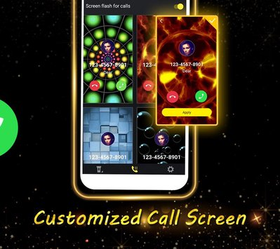Phone Caller Screen Color Call Flash Theme3