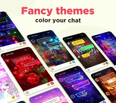Color SMS Themes Customize chat Emoji1