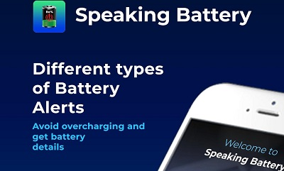 Cool Apps Speaking Battery Alert Alarm