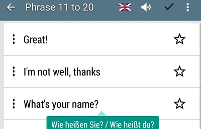 German phrases learn German language