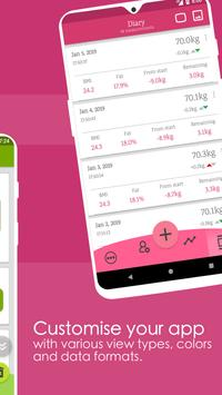 Weight Diary Weight Loss Tracker BMI Body Fat5