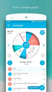 Sectograph Planner Time manager on clock widget1