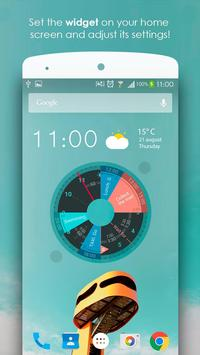 Sectograph Planner Time manager on clock widget2