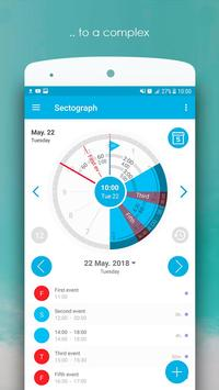 Sectograph Planner Time manager on clock widget4