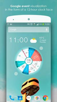Sectograph Planner Time manager on clock widget6